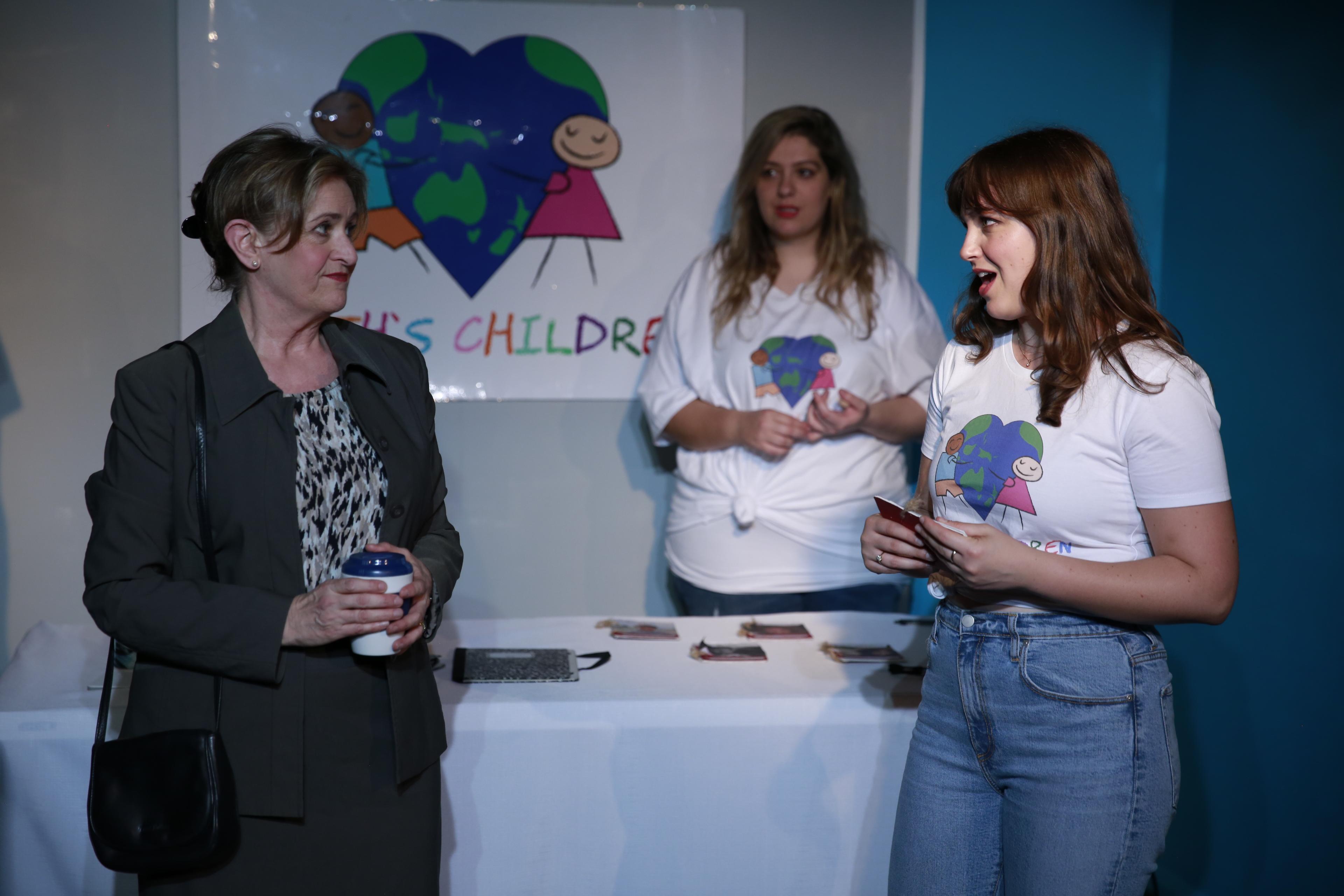 Susan Jordan, Barbara Papathanasopoulos & Skye Beker. Photo by Sam Lax